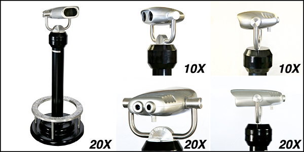 10x and 20x non-coin binocular viewer from Hi-Spy Viewing Machines