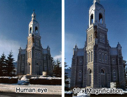 10x magnification example